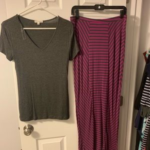 Maxi dress and shirt set - new without tags